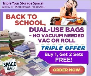 Space Bag Vacuum Waterproof Reusable Storage Bags