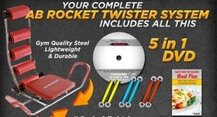 Get results in just five minutes a day with the Ab Rocket!
