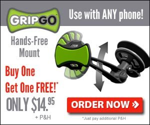 Gripgo Cell Phone Holder Hands-Free Car Dashboard Mount