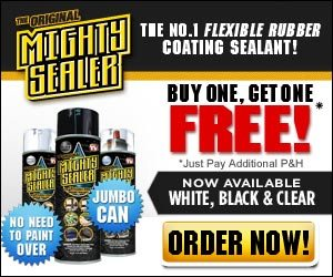 Mighty Sealer White, Black and Clear Liquid Sealant