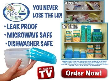 Mr Lid Locking Attached Lids Storage Containers