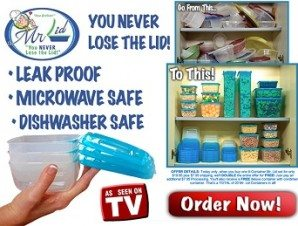 Mr Lid Containers with Attached Covers – Never Lose The Cover