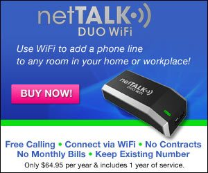 Nettalk Duo Voip Device Use Wifi to Add Phone Line