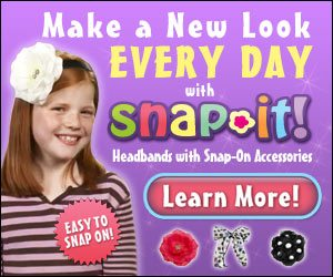 Snap It Headbands with Snap on Hair Accessories