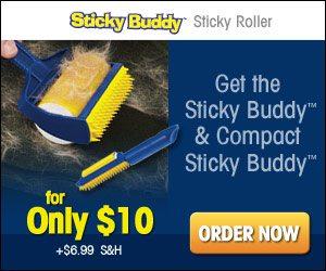 Sticky Buddy Telebrands Sticky Lint Roller