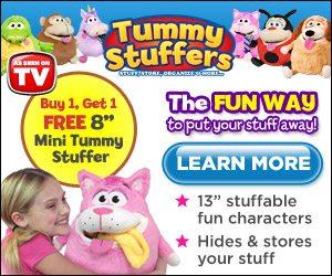 Tummy Stuffers Plush Storage Organizer