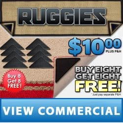 Ruggies Reusable Rug Grippers Prevent Slips and Trips