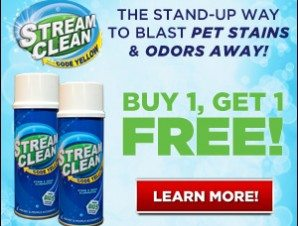 Stream Clean Blast Away Pet Stains and Odors Easily