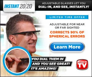 Instant 20/20 Adjustable Dial In Eyeglasses See Clearer