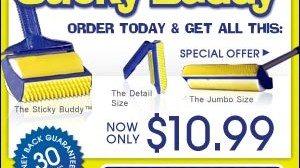 Sticky Buddy Reusable Lint Roller