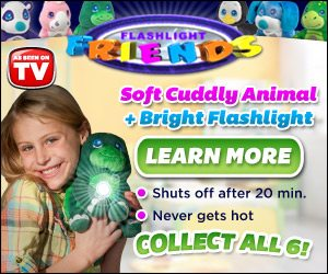 Flashlight Friends Soft Cuddly Plush Animal & Bright Flashlight