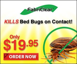 Kill Bed Bugs and Parasites on Contact with Fabriclear Spray