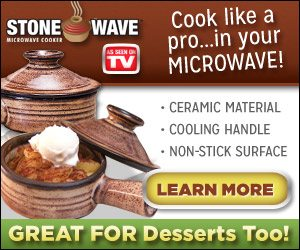 Stone Wave is a Ceramic Microwave Cooker Bowl