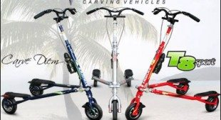 Trikke T8 Sport  Folds For Easy Storage – Human Powered