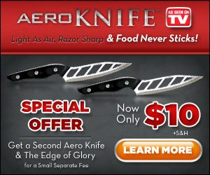 Aero Knife Special Offer Serrated Razor Sharp Chefs Knife
