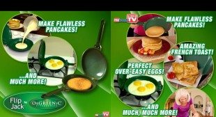 Flip Jack by Orgreenic – The No Mess, Non-Stick Way to Flip Flapjacks