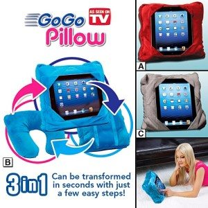 GoGo Pillow Tablet Table, Back Pack, Travel Pillow