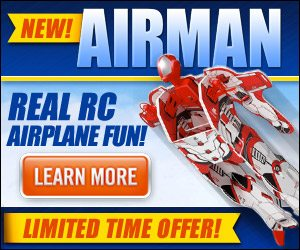 Airman RC Super Hero Airplane with Real Flying Remote Controls
