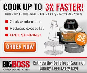 Big Boss Rapid Wave Grill Cook Up to 3 Times Faster