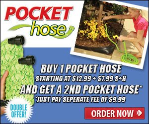 Pocket Hose As Seen On TV Garden Hose That Grows