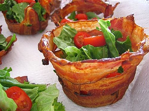 bacon edible bowl