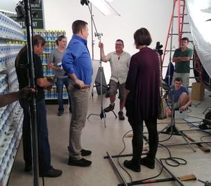 Anthony Sullivan Behind the scenes with the OxiClean shoot