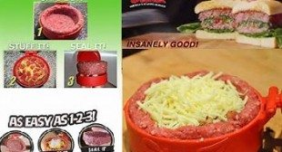 Stufz Hamburger Press for Stuffed Gourmet Type Burgers