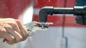 San Diego firefighter faces 'Sharks' with Quickstop Sprinkler Tool