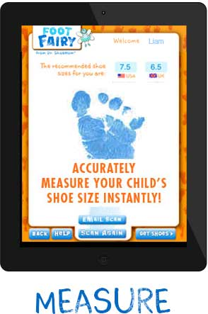 Foot Fairy App that Measures Your Childs Foot Size Accurately