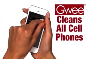 Gwee Hygienic Cleaning Tablets and Cell Phone
