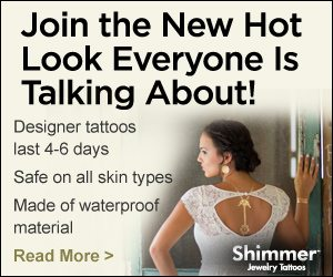 Jewelry Tattoos – Shimmer Metallic Jewelry Tattoos
