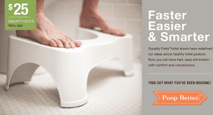 Squatty Potty Uniquely Design Toliet Stool Seen On Shark Tank