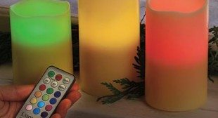 Luma Candles Real Wax Vanilla Scented Color Changing LED Candles