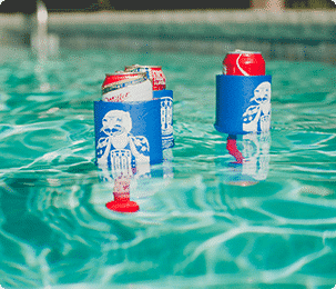 Beverage Boy Personal Floating Foam Can Koozie Cooler | Shark Tank BevBoy