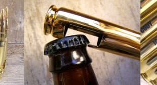 Bottle Breacher Bottle Opener Made from 50 Cal Bullets on Shark Tank
