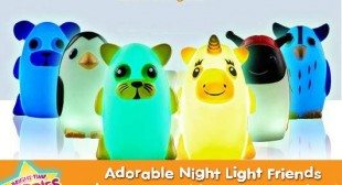 Adorable Kids Night Lights Bright Time Buddies