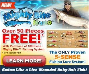 Mighty bite nano for Fishing lure as seen on tv