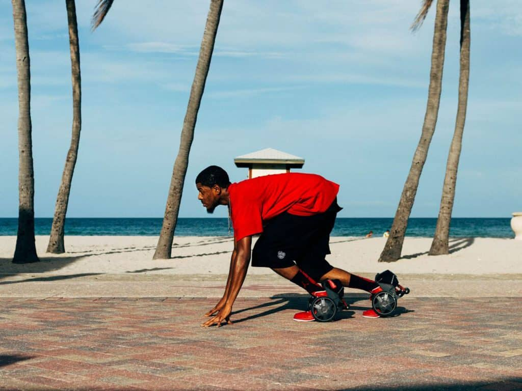Rocketskates by acton personal transportation skates seen for Shark tank motorized skates