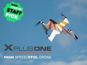 Kickstarter Success X PlusOne Drone Get Sharks All In