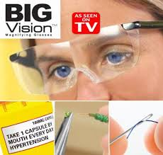Big Vision Eyewear As Seen On TV 160% Magnification Lenses