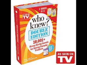"TeleBrands 10-Million Copies Sold ""Who Knew"" & ""Dump"" Cookbook"