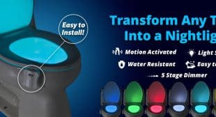 Glowbowl A Motion Activated Night Light for Your Toilet on Shark Tank