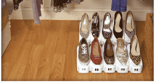Shoe Slotz Doubles Your Shoe Storage Space!