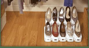 Shoe Slotz Doubles Your Shoe Storage Space!