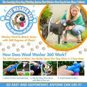 As Seen On TV Woof Washer 360 Wash and Rinse Your Dog