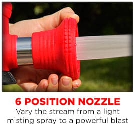 Big Red Blaster Intensity of a Professional Fire Hose!