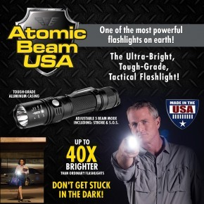 Atomic Beam USA Ultra-Bright, Tough Grade Tactical Flashlight