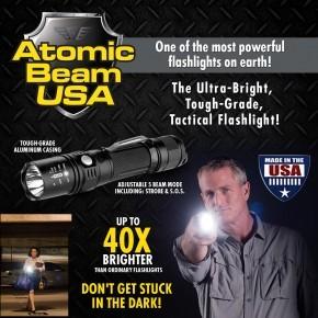 Atomic Beam USA Ultra-Bright, Tough Grade Tactical Flashlight