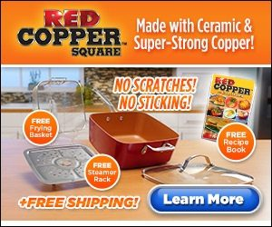 as seen on tv red copper square pan