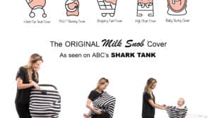 Milk Snob Infant Cover Perfect as Car Seat Cover on Shark Tank
